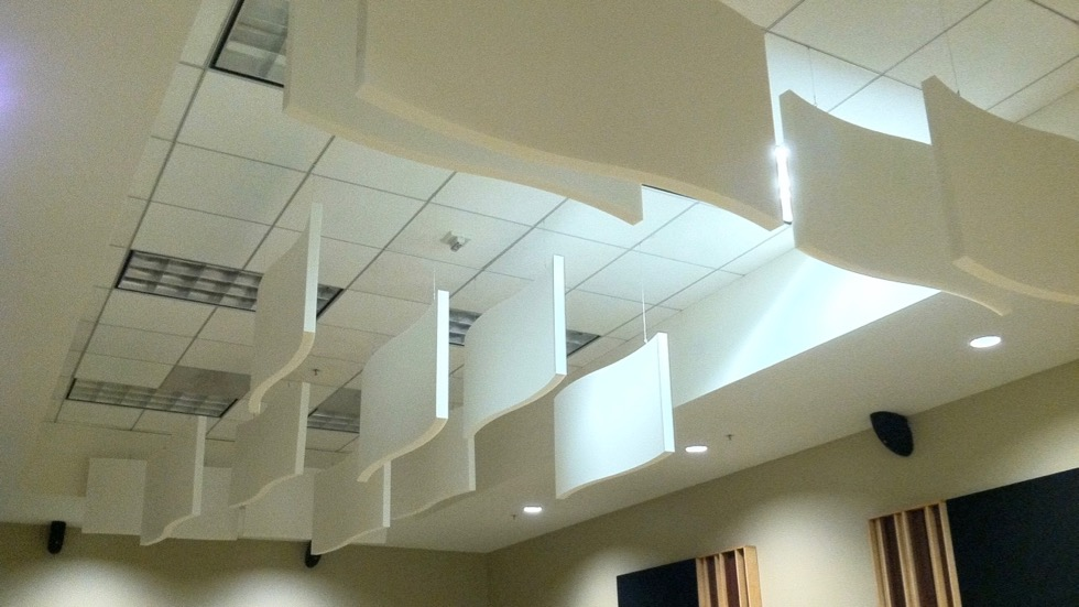 Whisperwave Acoustic Baffles Curved Ceiling Amp Wall Panels